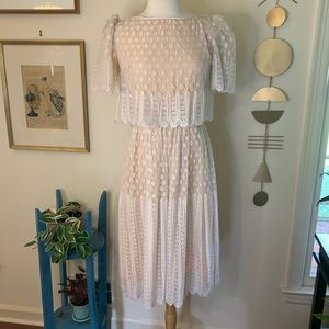 VTG The Gilberts for Tally New York lace dress